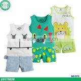 good breathable clothes baby summer sleeveless suits 0-9 months newborn toddler clothing sets