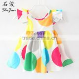 ShiJ Baby Girls Dresses Colorful Polka Dots ruffles Kids Clothes