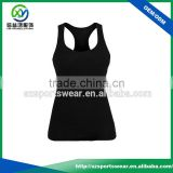 High quality 95% bamboo 5% Elastic fabric ladies sports singlet