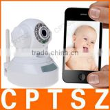Best Selling Wireless P2P MJPEG Infrared Network IP Camera with QR Code Supporting Mobile Viewing, Long Range Baby Monitor