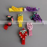 Baby Cute Fruit Hair Clips Cherry And Strawberry Ribbon Hair Clips For Baby Girl Gift