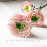 Special Two Colors Crepe Paper Handmade Peony Flower Wedding Party Decoration Artificial Craft Unique Backdrop