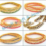 2015 Antique Designer Gold Payal Anklet-Wholesale Traditional Kundan Anklets- New Fashion Designer Multi Beads Anklets