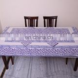Block print Table Cloth, Table Cover Indian Block Print dining Table cover with napkin for six seater 6 Pcs table sets decor art