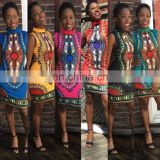 Women's African Dashiki Shirt Party Dress Kaftan Boho Hippie Gypsy Festival Tops African Dashiki Print Kaftan Party Mini Dresses