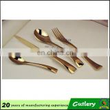 stainless steel flatware rose gold plated cutlery