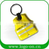 New Style Promotional Personalized Pvc And Eva Fashion Led Couple Keychain