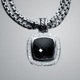 Designs Inspired DY 925 Silver 11mm Black Onyx Albion Enhancer