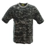 Fronter produce FS011 woodland camo t shirt with collar