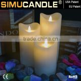 realistic flame effect candle led light with USA and EU patent , flameless LED for exhibition and party