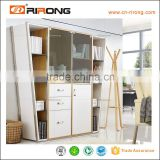 Color White With The Glass Door Design In Bookshelf Cabinet Design Book Rack Wall Mount Shelf