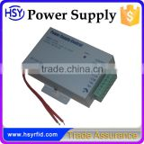 HSY-K100 High quality rfid access control switch power supply for door access control AC 110-240V to DC 12V 3A output