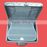 Custom beautiful durable metal box,portable aluminum beirfcase,carrying-on suitcase with lock