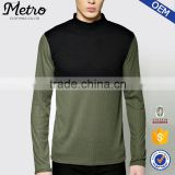 2016 OEM Wholesale Mens Contrast Rib Roll Neck Sweatshirts
