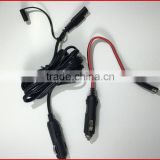 NEW Double Male Plug Pigtail Cigarette plug with 18AWG 2C 105c300V Power Cable Assembly