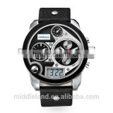 2015 leather fashion business man custom watches BY MIDDLELAND