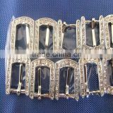 Wholesale Supply of 12mm Diamond Square Buckle Pet Collar Alloy Buckles Upscale Rhinestone Dog Collar Buckle