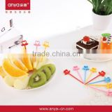 D597 New design Swan shaoed fruit fork birthday party supplies party supplies with multi color