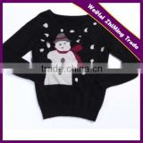 2016 New Design Unisex Round Neck Knitting Pattern Sweater, Winter Heavy Sweater With Snowflake Pattern