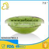 "7.5"" Green melamine rustic individual soup bowl with good quality"