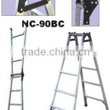Folding aluminum household step ladder type cable tray