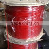 Plastic coated steel wire rope 7x7