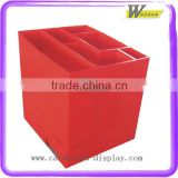 Square Red Retail Cardboard Compartment Dump Bin Display