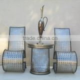 Artistical Fish Scales Design Metal frame Chair With Coffee Table Set For Home Or Outdoor