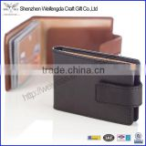 Men's business card holder wallet genunie leather credit card holder customized