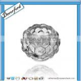 lead-free ball shape crystal glass candle holder