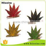 Lapel Pin Manufacturers China Soft Enamel Maple Leaf Badge                                                                         Quality Choice