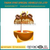 Food cart design to sell coffee bubble tea juice potato kiosk