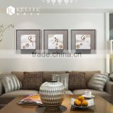 2014 new home decoration led candle canvas painting with frame