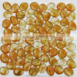 Wholesale price yellow pebble glass mosaic tile