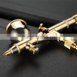 0.2mm 24 carat gold-plated dual action cake painting makeup tattoo hobby airbrush gun with 9ml metal cup AS-51
