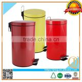 Powder coated rubbish bin painting foot pedal scrap bin waste scrap container bin retail scrap waste container
