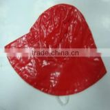 factory good quality pvc red or other colors rain hood/ bonnet caps/ raingear