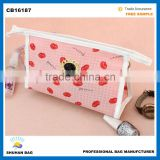 NEW Arrival fashion cosmetic bag women accessory make up bag Promotional two pockets cosmetic bag
