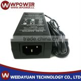 ac adapter 12v 4a power supply certified with FCC With 5.5*2.1mm Connector with CE FCC SAA C-Tick RoHS UL certificates