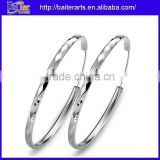 New Design ! Wholesale Jewelry Fashion Monogrammed 925 Sterling Silver Large Hoop Earrings