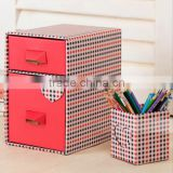 The new CD boxes double drawer storage box pink drawer box pen container storage box