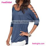 High quality New Fashion Blue Woman latest fashion blouse design                                                                         Quality Choice                                                     Most Popular