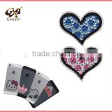 heart shape acrylic rhinestone sticker/decoration acrylic stickers/diy acrylic mirror sticker