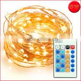 100 LEDs 33 ft Copper Wire, Warm White, Remote Control Outdoor String Lights, Dimmable LED String Lights Festival LED String