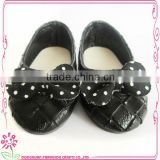 Beautiful 2016 fashion black doll shoes for sale , OEM doll shoes