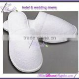 close-toe cheap white terry women slippers, white terry ladies slippers used in hotels, spas