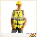 yellow road worker safety vest