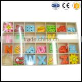 Cartoon figures and alphabet DIY decorative wall sticker,diy colorful wooden letter jewelry set