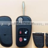 High Quality Flip Folding Remote Key Fob Cover Case for 2002 2003 2004 2005 2006 2007 2008 Jaguar S-type X-Type 4 Button Car Key