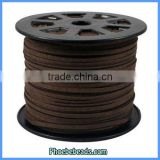 Wholesale Flat Faux Brown Suede Cords For Jewelry Making SC-1100